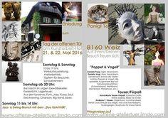 Kunstfest am Kunst-Arbeitshof bei Fam. Exhibitions, Clay, Events, Animals, Art, Pictures, Animales, Animaux, Kunst