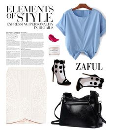 """Zaful 9/5"" by merima-kopic ❤ liked on Polyvore featuring Vera Wang, Hervé Léger, Anja, Herbivore and zaful"
