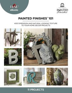 Learn more about FolkArt Painted Finishes and create the 11 beautiful DIY home decor projects included in this free craft eBook! Diy Home Decor Projects, Home Crafts, Fun Crafts, Amazing Crafts, Faux Painting, Painting Tips, Art N Craft, Summer Crafts, Paint Finishes