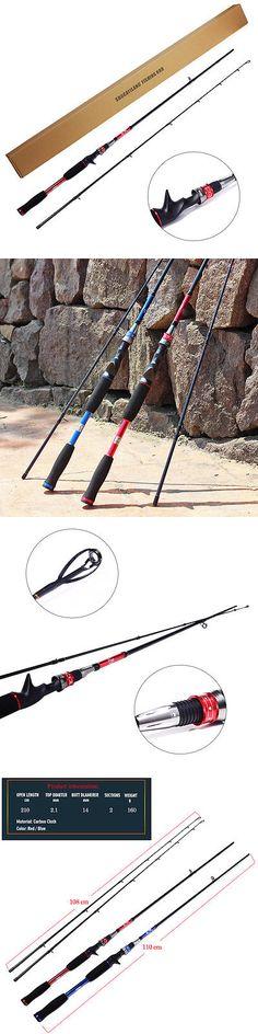 Baitcasting Combos 179954: Baitcasting Fishing Rod Saltwater Freshwater Travel 2Section Fishing Tackle Pole -> BUY IT NOW ONLY: $59.99 on eBay!