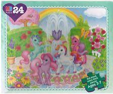 LOT OF THREE My Little Pony VINTAGE jigsaw puzzles BIRTHDAY, MAYPOLE, FOUNTAIN