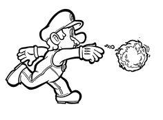 Mario Bross Tegninger til Farvelægning. Printbare Farvelægning for børn. Tegninger til udskriv og farve nº 3