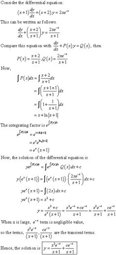 Find the general solution of the given differential equation Maths Algebra, Calculus, Class 12 Maths, 12th Maths, Math Formula Chart, Trigonometry Worksheets, College Math, College Hacks, Statistics Math