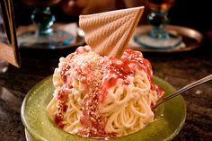 Spaghettieis - German ice cream dessert