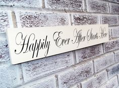 Happily Ever After Starts Here Wedding Sign - ready to ship - bridal shower gift, wood wedding signs, wedding ceremony decor, reception