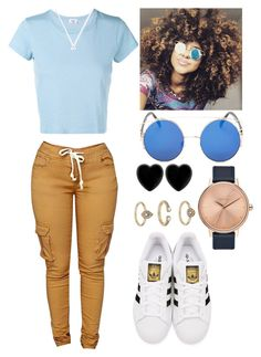 """Random :D"" by marvelfaith ❤ liked on Polyvore featuring adidas Originals, RE/DONE, Topshop, Dollydagger and Nixon"