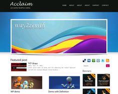 Acclaim Wordpress Theme Free Website Designs, Lorem Ipsum, Wordpress Theme, My Favorite Things, Free, Grief, Design Websites, Site Design, Web Design