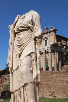 House of the Vestals in Rome Italy. Vestals in ancient Rome were like modern day nuns. Rhea Silvia was a virgin vestal that became pregnant with Remus and Romulus (Romulus would later become the founder of Rome) from the God of Mars. This monument pays homage to the origins of Rome.