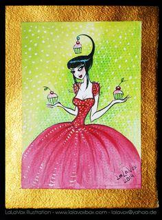 © LaLaVox - www.lalavoxbox.com - Cupcake Girls - mixed media (India ink…