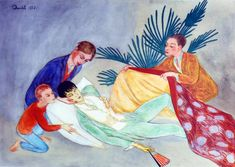 Nils Dardel (the dying dandy), 1st version, 1918
