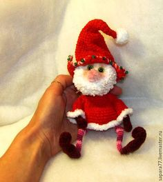 Купить НОВОГОДНИЙ ГНОМ - ярко-красный, гном, гномик, интерьерная кукла, интерьерная игрушка