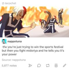 Shoto Todoroki, BNHA— YOU JUST HELPED YOUR ENEMY
