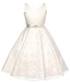 DressForLess Lovely Lace V-Neck Flower Girl Dress , Ivory, 6 DressForLess http://www.amazon.com/dp/B00MOP2F5C/ref=cm_sw_r_pi_dp_ce0bvb0FDT8YN