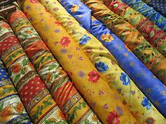 Provencal fabrics are often available at market.  Pinned by www.mygrowingtraditions.com