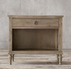 """DOWN LIBRARY BEDROOM - (2) RH, Maison 32"""" Open Nightstand #63820019 AGRY FINISH: Antiqued Grey...32""""W x 19""""D x 28""""H  $671@ member"""