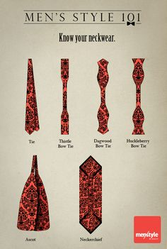 Know your neckwear.