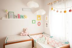 Girly and stylish nursery