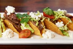 Mini Mediterranean style Duck Tacos (Sammy's Woodfired Pizza Restaurant Recipe)