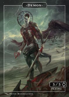 """Illustrated by Peter Mohrbacher Details: Glossy Cardstock, 12 pt, 2.5"""" x 3.5"""" Sleevable"""