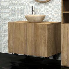 Meuble sous vasque salle de bain de Bois Dessus Bois Dessous  salledebain   meublesalledebain   f640c2db9bbc