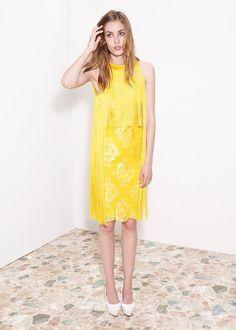 $2700 Stella McCartney Fringed Lace and Crepe Dress 36 | eBay