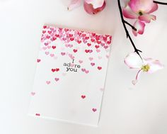 Amber Kemp-Gerstel for Avery Elle using Lots of Love stamp set. www.averyelle.com