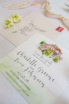 TLPS 'Evelynn' House Collection featuring your wedding venue on your special day. This has got to be one of our personal favourites here at The Little Paper Shop HQ. Watercolor And Ink, Watercolor Illustration, Modern Fonts, Ink Illustrations, Wedding Invitations, Invites, Invitation Suite, Wedding Suits, Creative Director