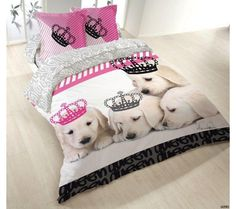 housse de couette chien chic kid taie d 39 oreiller. Black Bedroom Furniture Sets. Home Design Ideas