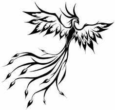 Tribal Phoenix Tattoo has become popular lately. Many believe Phoenix is a bird like creature that can rise even from its own ashes after getting burned down. Tribal Tattoos, Tribal Phoenix Tattoo, Phoenix Bird Tattoos, Body Art Tattoos, Girl Tattoos, I Tattoo, Cross Tattoos, Celtic Tattoos, Chest Tattoo