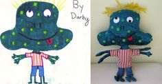 SUCH a unique idea!!  They turn your kids drawings into real stuffies!  Love it!