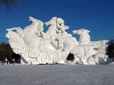 Nice snow sculpture