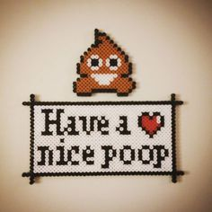 Have a nice poop - Toilet sign hama beads by isako86