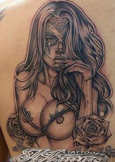 sugar skull pin up girl tattoo - Google Search More