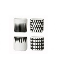 Geometry Espresso Cups by Ferm Living Mug Design, Danish Design Store, Kitchenware, Tableware, Espresso Cups Set, Expresso, Sissi, Marimekko, Decoration