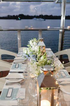 Beach wedding table settings Noosa Ricky's Bar and Grill Lovebirds weddings