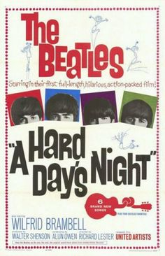 'A Hard Day's Night' - 1964 film poster.