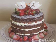 Naked Cake para Bodas de Seda