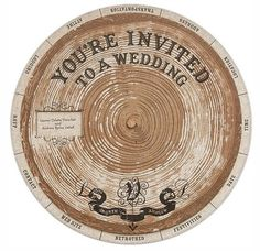 I'm looking for a unique invitation that I can mail.  This type of invitation could work.  I certainly haven't seen one like it before.  I would use different paper and have different subjects for the wheel, of course, but this one is definitely a contender.