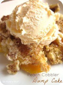 Six Sisters' Stuff: Peach Cobbler Dump Cake Recipe
