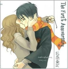 Fan Art of Harmony <3' for fans of Harry and Hermione.