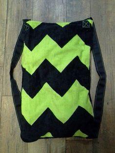 Green/Black Chevron Beach Towel Back Pack by TreasuresbyKatieH on Etsy, $20.00