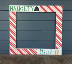 Christmas Photo Booth Frame - Holiday Photobooth - Holiday Cards - Christmas Photo - Wood Photobooth Frame Prop