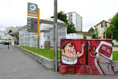 Cristian Sandro - street art - Vitry-sur-seine - avenue henri barbusse / rue Germain Defresnes