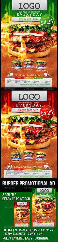 Buy Grilled Burger Promotional Flyer by lionelstudiohouse on GraphicRiver. Grilled Burger Promotional Flyer Burger Image not included, 2 psd file – 3300 by 5100 2100 by 3300 Menu Design, Food Design, Flyer Design, Burger Images, Pizza Poster, Fish Burger, Pizza Menu, Shop Signage, Menu Flyer