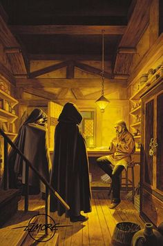 unwelcome guest - by Larry Elmore | Featured Artist on the Fantasy Gallery