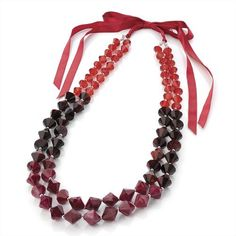Minerva Collection Toned Bead Ribbon Tie Fashion Necklace Red http://www.minervacollection.com/Minerva-Collection-Ribbon-Fashion-Necklace/dp/B0078O39CM