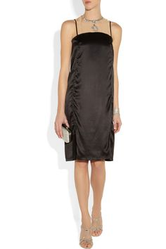 Lanvin | Embellished washed-silk dress | NET-A-PORTER.COM