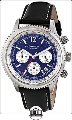 Stuhrling Original Man Monaco Dress 669.02 - Reloj de pulsera Cuarzo Hombre correa deCuero Negro de  ✿ Relojes para hombre - (Gama media/alta) ✿