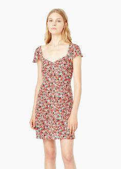 Vestido estampado floral - Vestidos de Mujer | MANGO