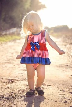 642132cd3 4th of July Onesie Dress 3 Months to 24 Months Camden Clothes, 4th Of July